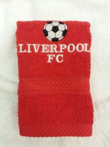 LIVERPOOL PERSONALISED FACE CLOTH